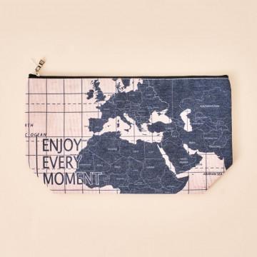 Neceser Original Viaje Mapamundi Mensaje Positivo
