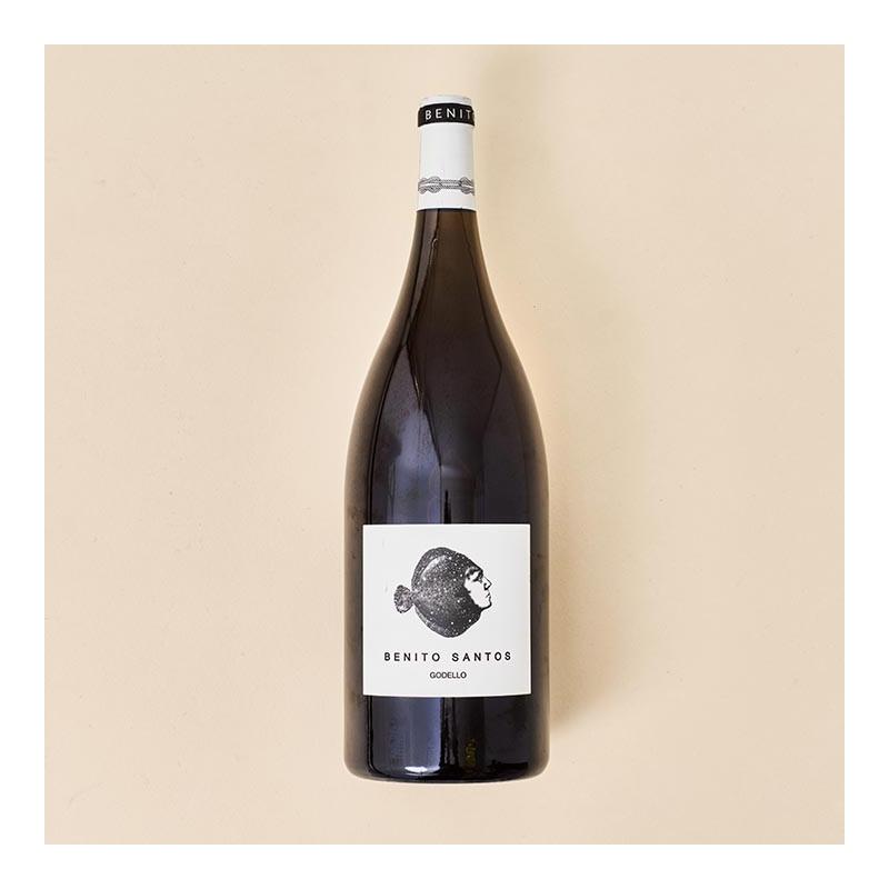 Vino blanco Benito Santos Godello Magnum, botella 1,5 litros, formato mágnum