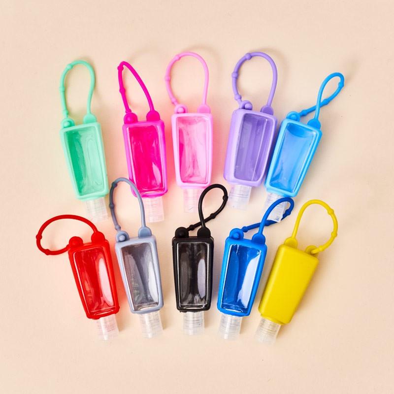 Portagel hidroalcohólico silicona, varios colores