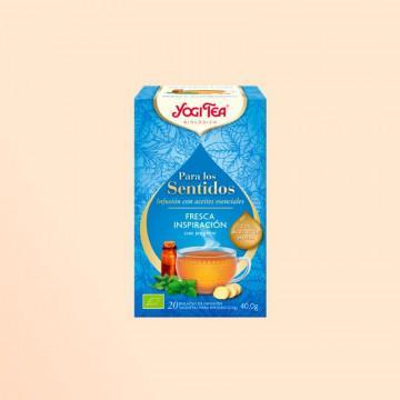 Infusión Yogi Tea Fresca Inspiración, Para los Sentidos- Agricultura biológica. 20 bolsas.