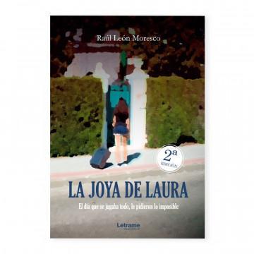 «La joya de Laura», portada de la novela de Raúl León Moresco
