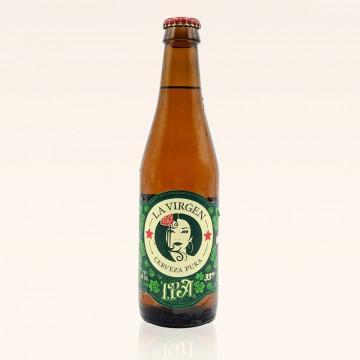 Cerveza La Virgen IPA, botella de 33 cl