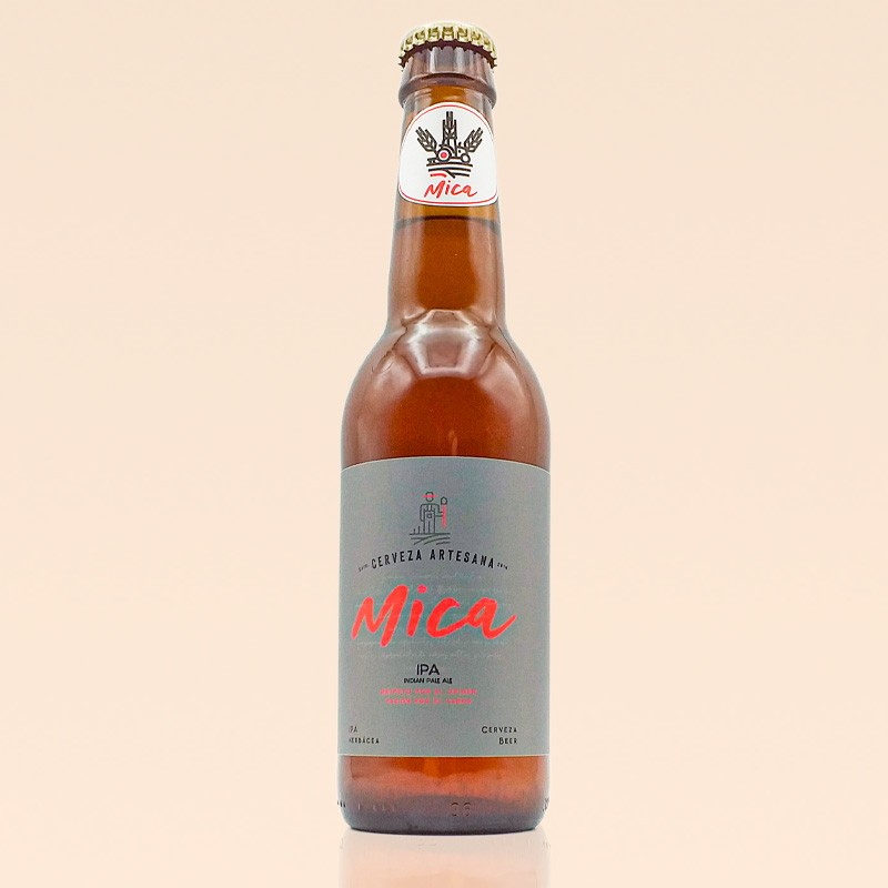 Cerveza Mica IPA, botella de 33 cl.