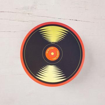 Mantel individual redondo con forma de disco de vinilo