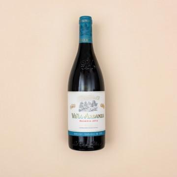Botella de vino rioja Viña Ardanza Reserva 2012
